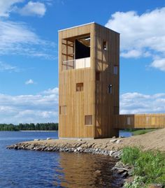 This lakeside observation pavilion by Finnish studio OOPEAA doubles as a giant periscope, so visitors don't have to climb to the top to enjoy the view.