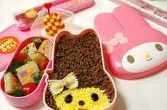 cute japanese food - nobody does childrens lunch boxes like the japanese do.