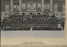1939 Photograph of The Royal Military College TA Officers Course no 4 company Sandhurst, all named with dog mascot. From Major Thomas Sydney Martin born 1916 collection who was based in Egypt , married Rosette Joffe (Jewish family) RAF 1942 Cairo Egypt. Name Photo, Photo Wall, All Names, Cairo Egypt, Royal Mail, Ww2, Manchester, United Kingdom, Sydney
