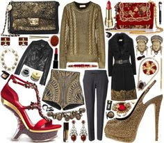 """""""MICHAEL Michael Kors Metallic-coated cable-knit sweater"""" by mauriciofredes on Polyvore"""