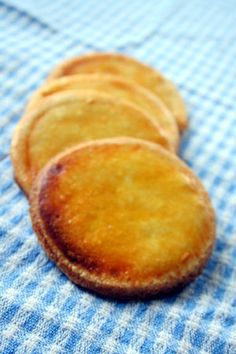 Galettes bretonnes - also the name for buckwheat crepes, in this case it refers to crisp butter cookies with a shiny egg wash and usually a crosshatch pattern.