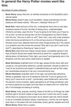 Harry Potter characters: book versions vs. movie versions.