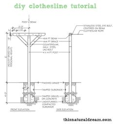 diy clothesline tutorial