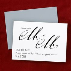 Soon-to-be - Save the Date Magnet.  Tell all your friends and family who the future Mr. and Mrs. are with this save the date magnet.