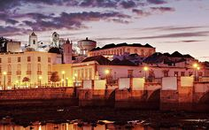 Tavira At Dusk - Portugal Print by Barry O Carroll Algarve, Dusk, Fine Art America, Portugal, Mansions, House Styles, Prints, Photography, Mansion Houses