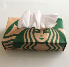 Starbucks Crafts, My Starbucks, Diy Crafts For Tweens, Diy And Crafts, Arts And Crafts, Useful Origami, Origami Box, Upcycled Crafts, Repurposed