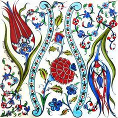 Gülay Ceylan & Özlem Akyüz I love both of these tulips, especially the one on. - Gülay Ceylan & Özlem Akyüz I love both of these tulips, especially the one on the left. Turkish Design, Turkish Art, Turkish Tiles, Islamic Tiles, Islamic Art, Textures Patterns, Print Patterns, Bordado Floral, Foto Poster