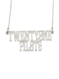 Twenty One Pilots Logo Nameplate NecklaceTwenty One Pilots Logo Nameplate Necklace,