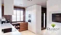 Średnia otwarta kuchnia w kształcie litery u w aneksie, styl nowoczesny - zdjęcie od anchal