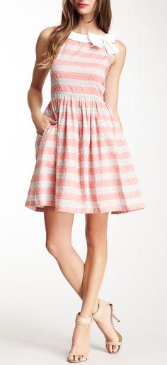 Bow + stripes dress