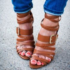 1dde403e8f89 Shoespie Brown Wrap Strappy Sandals Sandales Épaisses