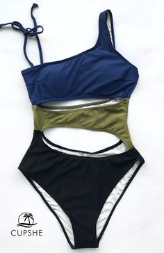 Wanna be unique, special and one-of-a-kind? Let this swimsuit speaks for you! Comfy and Beautiful. With their blocking colors and simple design, you are definitely going to love this creative bikini set!