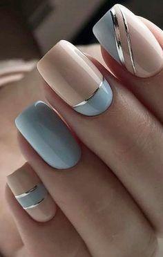 Manicure Nail Designs, Acrylic Nail Designs, Nail Manicure, Nails Design, Manicure Ideas, Nail Art Designs, Design Art, Elegant Nails, Classy Nails