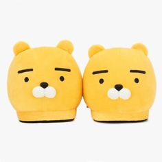 Kakao Friends Official Goods Ryan Mega Face Office Home Slippers 160 + Tracking #KakaoFriends