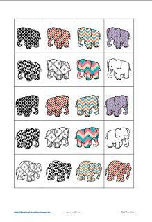 Matrix olifanten (juf Annelies) DEEL 1 Jungle Activities, Preschool Themes, Preschool Activities, Elephant Room, Elephant Theme, Elmer The Elephants, Creative Teaching, New Print, African Theme