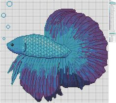 Betta Fish by Makibird-Stitching.deviantart.com on @deviantART