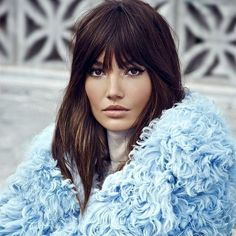 Ooooh, we really want bangs! Lily Aldridge rockin' rich color and a shag has us totally inspired. You??