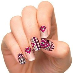 Incoco Nail Polish Strips, Nail Art, Lovestruck * Click image for more details. Cute Nails, Pretty Nails, Mandala Nails, Tribal Nails, Nail Polish Strips, Nagel Gel, Creative Nails, Perfect Nails, Nail Manicure