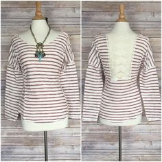 ✳️SALE✳️Super cute crochet back top sz S M L Adorable long sleeve crochet back top   Sz SMALL Bust 34-36 Sz MEDIUM Bust 36-38 Sz LARGE38-40   Length 25 Sleeve length 24  ❤️PLEASE COMMENT SIZE AND I WILL MAKE YOU A SEPARATE LISTING ❤️  Raw hem neckline  90%cotton 10% polyester (has a terry cloth feel)  Really nice and NWOT   I recommend a sticky bra due to the open crochet area in back Tops