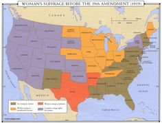 NO VOTING RIGHTS BY WOMEN... GIS Research and Map Collection: Women's Suffrage Maps from Ball State University Libraries Mark 19th Amendment Anniversary....