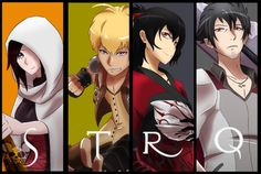 Team STRQ. Summer, Taiyang, Raven, and Qrow