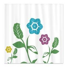 Colorful Flowers Shower Curtain  Fun, vibrant and colorful #springy #flowers $45.99 #homedecor #bath