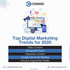 What marketing trends for 2020 will you adopt for your digital marketing strategy? Digital Marketing Trends, Digital Marketing Strategy, Google Ads, Promote Your Business, Augmented Reality, App Development, Be Yourself Quotes, Mobile App, Online Business