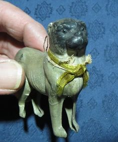 """Antique German Dresden Pug 