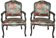 Antique French Arm Chairs - Looking for similar style chairs for my living room....
