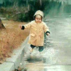 Little Splasher - Splasher Boy In Raincoat Donald Zolan (1937 – 2009, American)