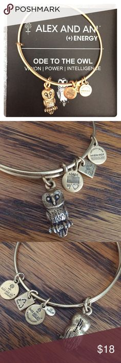 Alex & Ani Ode to the Owl Bracelet Alex & Ani gold Ode to the Owl bracelet Alex & Ani Jewelry Bracelets