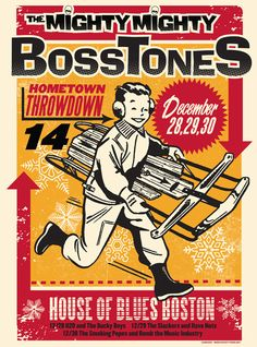 Gig Poster - Mighty Mighty Bosstones, The - H20 - Ducky Boys, The - Slackers, The - Have Nots - Smoking Popes, The - Bomb The Music Industry