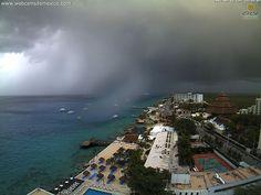 Tormenta en Cozumel, Quintana Roo.