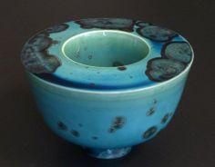 Jörg Baumöller - double wall porcelain vase with copper crystalline glaze, D 19 cm, H 12 cm