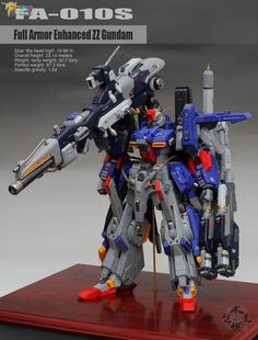 1/72 Full Armor Enhanced ZZ Gundam - Painted Build     Modeled by eajuncy