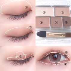 Ultimate Step-by-step Tutorial For Perfect Face Makeup Application - eye makeup tutorial; eye makeup for brown eyes; Ultimate Step-by-step Tutorial For Perfect Face Makeup Application Korean Makeup Look, Korean Makeup Tips, Asian Eye Makeup, Korean Makeup Tutorials, Ulzzang Makeup Tutorial, Korean Makeup Tutorial Natural, Brown Eye Makeup Tutorial, Natural Makeup Tutorials, Kawaii Makeup Tutorial