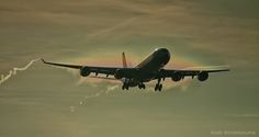 Virgin Airbus A340 Arriving in the morning sun....