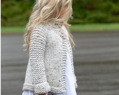 KNITTING PATTERN-The Brink Sweater (2, 3/4, 5/6, 7/8, 9/10, 11/12, S, M, L sizes)