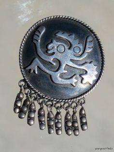 Vintage 950 Silver Isidro Garcia Pina Maricela Brooch Pin | eBay