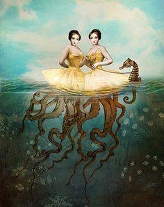 """Catrin Welz-Stein  """"The Sirens""""  digital art"""