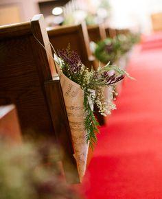Ceremony decorations | Sara Kauss Photography | http://www.theknot.com/weddings/album/a-winter-wonderland-wedding-in-roseau-mn-138947