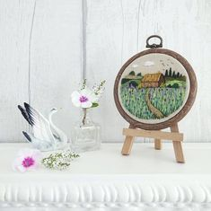 Birdsong Cottage Cute Embroidery Hoop Art Tiny and Cute