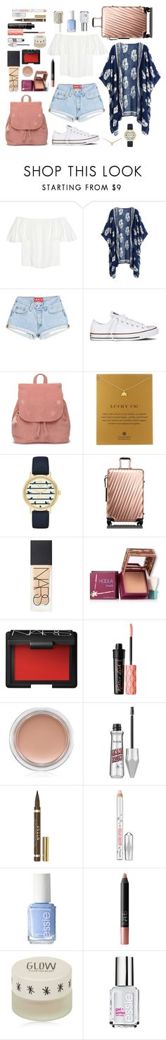 """""""#Travel"""" by lightbody-joanna on Polyvore featuring Valentino, Converse, TOMS, Dogeared, Kate Spade, Tumi, NARS Cosmetics, Hoola, Benefit and MAC Cosmetics"""