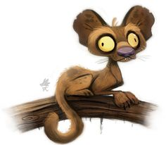 Daily Paint #642. Foosa Quickie by Cryptid-Creations.deviantart.com on @deviantART