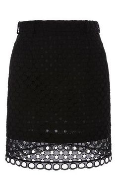 Open cotton skirt by CARVEN for Preorder on Moda Operandi