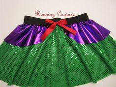 New Ariel  inspired Sparkle Running Misses Round skirt on Etsy, $33.95