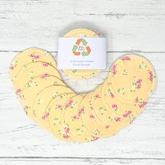 Cotton Facial Rounds Set of 10 / Face Cloth / Make-up Remover / Reusable Cotton Pads / Facial Scrubbies / Washable Cotton Pads by GingerGreenCo on Etsy Cotton Pads, Cotton Towels, Period Pads, Makeup Remover Pads, Cloth Pads, Make Up Remover, Paper Tape, Wash Your Face, Biodegradable Products