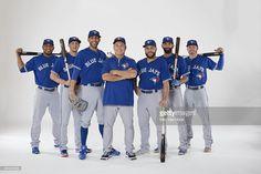 Portrait of Toronto Blue Jays manager John Gibbons with designated. Blue Jay Way, Go Blue, Troy Tulowitzki, Russell Martin, David Price, Sports Baseball, Sports Teams, Josh Donaldson
