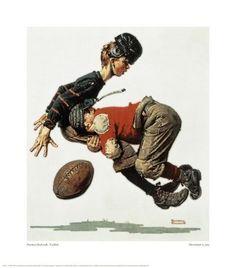 NORMAN ROCKWELL - Football