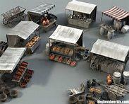 Medieval Marketplace 3 by svenart on DeviantArt